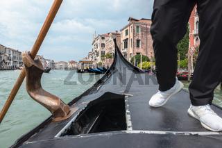 Walk on gondolas in Venice