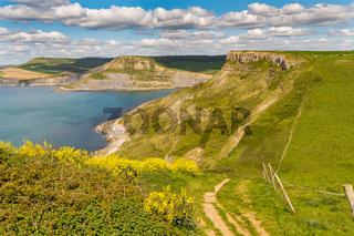 Emmett's Hill, South West Coast Path, Jurassic Coast, Dorset, UK