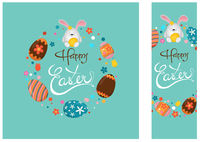 Happy Easter Greeting Card and Banner