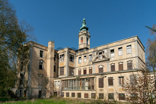 The ruins of Schloss Dammsmuehle in Wandlitz, Germany