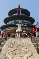 Beijing, China - May 14, 2018: Tourists in Temple of heaven