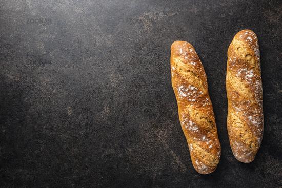 Crispy fresh baguettes.