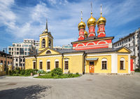 Church of St. Nicholas in Schepy in Moscow. Russia