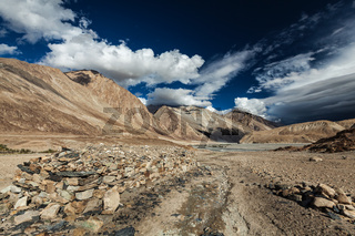 Himalayan landscape in Nubra valley in Himalayas. Ladakh