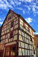 The half-timbered house is a sight of the city of Marbach am Neckar
