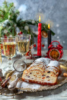 Traditional Christmas Stollen.