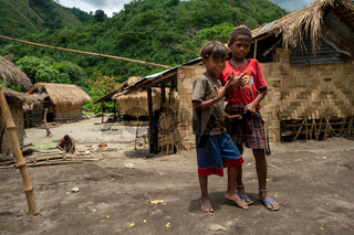 Kids in the native village of Tarukan on the northern island of Luzon