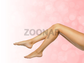 female legs on spa background
