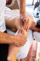 Woman getting relaxing massage