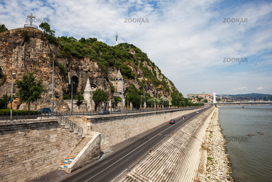Gellert Hill at Danube River in Budapest