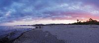 Sunset glow at