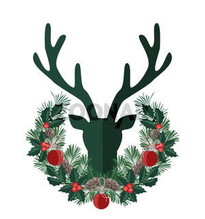 Background with deer antlers