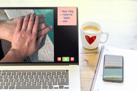 Preparation for a marriage proposal by online shopping in the internet