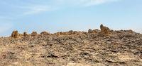 Dallol in Danakil depression, Ethiopia wilderness