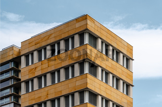 Modern architecture office building against sky in Berlin