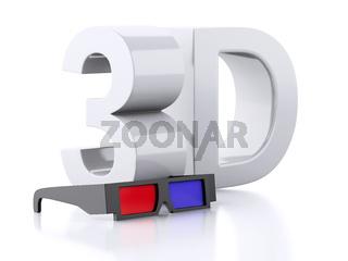 3d glasses. cinematography concept.