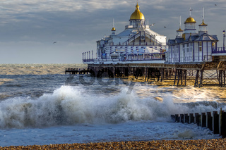 EASTBOURNE, EAST SUSSEX/UK - JANUARY 7 : View of Eastbourne Pier in East Sussex on January 7, 2018