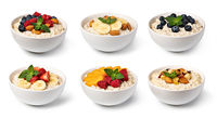 Bowl with prepared oatmeal