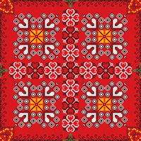 Romanian traditional pattern 222