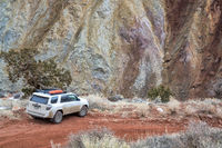 Toyota 4runner SUV on a canyon trail
