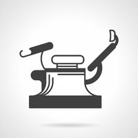 Gynecology chair black vector icon