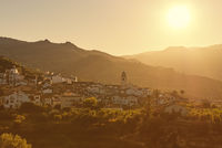 Benimantell town during sunset, Spain