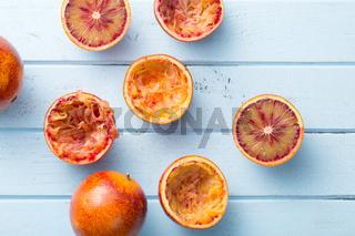 halved blood orange