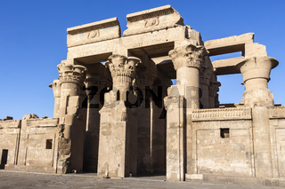 The dual entrance to the Temple of Kom Ombo