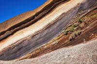 Diese besondere Gesteinsschicht ist auf der Kanareninsel Teneriffa zu bewundern und wird La Tarta genannt