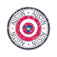 City of Austin, Texas vector stamp