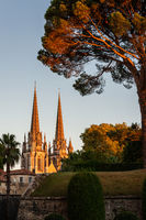 Bayonne Cathedral at sunset, France