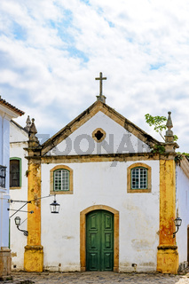 Famous churches in the ancient and historic city of Paraty