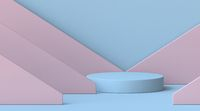 Mock up podium for product presentation layered triangles 3D