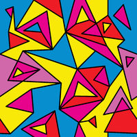 Fragment of geometric cubism, Abstract seamless pattern 1.2.
