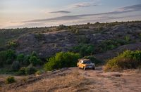 Granite Actovo canyon in the Devil Valley, Ukraine