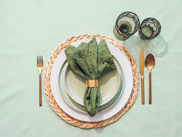 Saint Patricks day table setting background