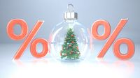 Christmas Tree Snow Globe Percents