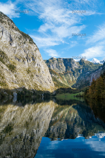 The picturesque Obersee, above Lake Königsee in Berchtesgaden, Germany