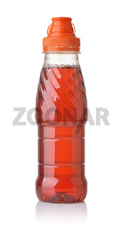 Bottle of red juice