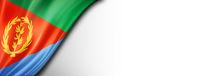Eritrean flag isolated on white banner