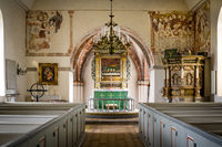 country-church with reredos of wood and fine frescoes, V. Vemmerlov, Sweden