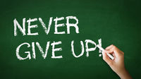 Never Give Up Chalk Illustration