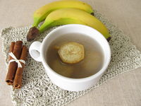 Banana peel tea, tea from organic bananas, banana peel and cinnamon