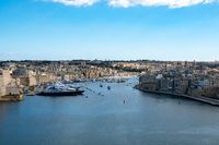 Harbour at Valetta with luxury yachts