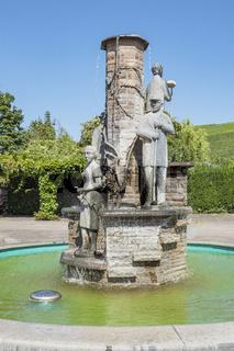 Brunnen am Bahnhof in Ahrweiler, Rheinland-Pfalz