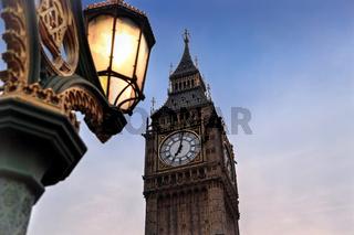 Big Ben seen from Westminster Bridge