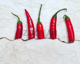 fiery red chili peppers