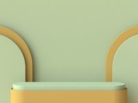 Abstract mock up podium 3D