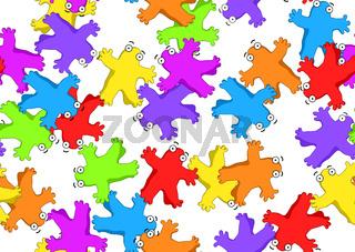 Blob Figures Color Texture Pattern