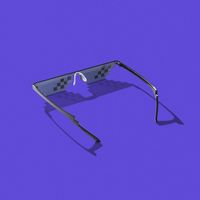 Creative art protective pixel glasses with shadows.